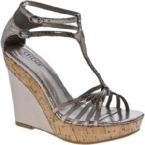 Diba Breslin Reptile Platform Wedge Sandal